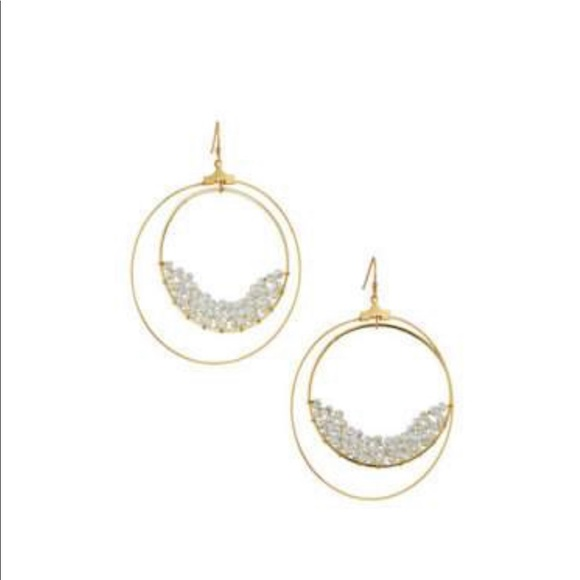 Panacea Cache Jewelry - Double Hoop Drop Earrings